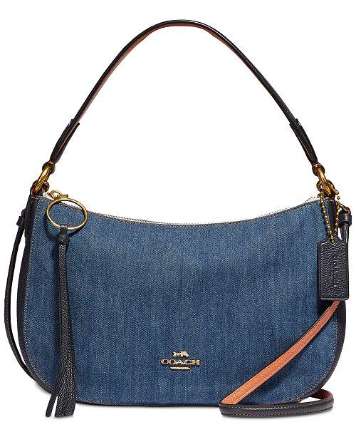 Coach Denim Sutton Crossbody Reviews Handbags