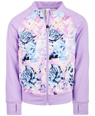 Toddler Girls Floral-Print Zip-Up Jacket, Created for Macy's