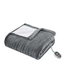 True North by Sleep Philosophy Ultra Soft Reversible Berber/Plush Heated Queen Blanket with Bonus Automatic Timer