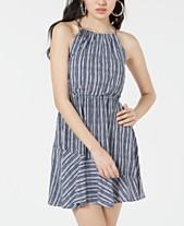 b89ad817ea4 Sequin Hearts Juniors  Striped Flounce Dress
