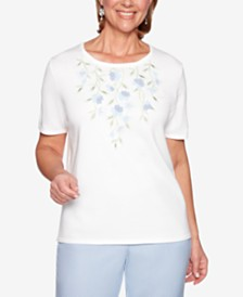 Alfred Dunner Petite Southampton Embroidered Sweater