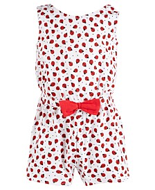 First Impressions Baby Girls Cotton Ladybug Romper, Created for Macy's