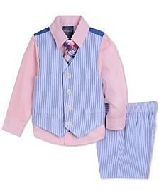 Nautica Baby Boys 4-Pc. Shirt, Vest, Shorts & Necktie Set