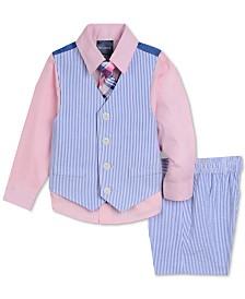 Nautica Baby Boys 4-Pc. Shirt, Vest, Shorts & Necktie Set