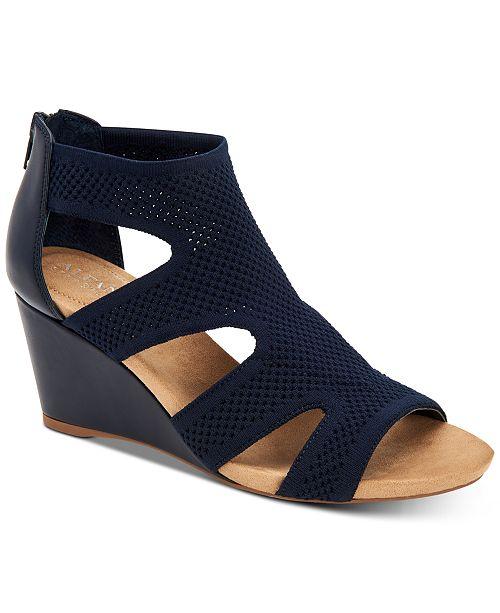 9966f3bdcf Alfani Women's Step 'N Flex Pennii Dress Wedge Sandals, Created for ...