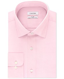 Calvin Klein Men's STEEL Classic/Regular Fit Non-Iron Performance Stretch Fineline Dress Shirt