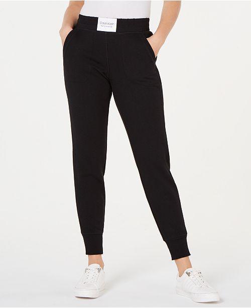 3d7891690cbb Calvin Klein Smocked-Waistband Joggers   Reviews - Pants   Capris ...