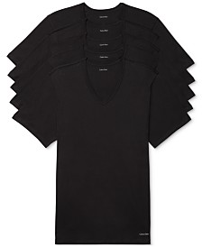 Calvin Klein Men's 5-Pk. Cotton Classics Slim V-Neck Undershirts