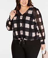 a552cf282ac Clearance Closeout Plus Size Tops - Macy s