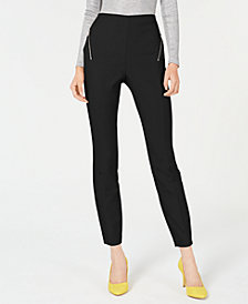 I.N.C. Petite Zip-Pocket Skinny Pants, Created for Macy's