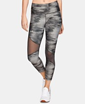 53c5caa801 Under Armour HeatGear® Printed Mesh-Inset Leggings