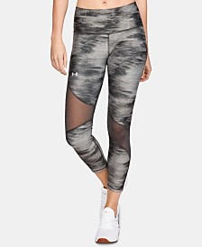 Under Armour HeatGear® Printed Mesh-Inset Leggings