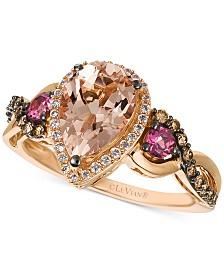Le Vian® Multi-Gemstone (1-1/2 ct. t.w.) & Diamond (1/3 ct. t.w.) Ring in 14k Rose Gold