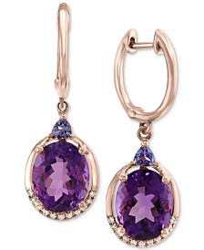 EFFY® Multi-Gemstone (5-3/4 ct. t.w.) & Diamond Accent Drop Earrings in 14k Rose Gold