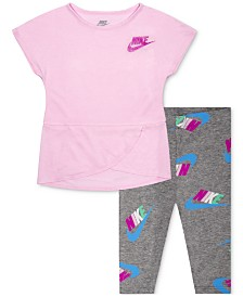 Nike Baby Girls 2-Pc. Crossover Tunic & Capri Set