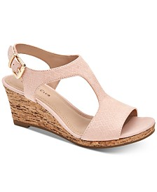 Charter Club Shelbee T-Strap Wedge Sandals, Created for Macy's