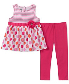 Kids Headquarters Little Girls 2-Pc.Tunic & Leggings Set