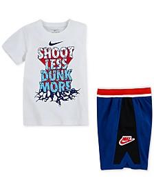 Nike Toddler Boys Dunk-Print Cotton T-Shirt & Hoopfly Shorts