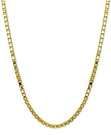 "Giani Bernini Box Link 18"" Chain Necklace in 18k Gold-Plated Sterling Silver, Created for Macy's"