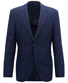 BOSS Men's Regular/Classic Fit Checked Jacket