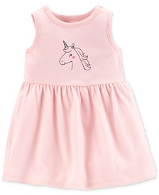 Carter's Baby Girls Unicorn-Print Dress