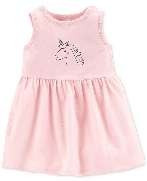 837be45243e1 Carter's Baby Girls Unicorn-Print Dress; Carter's Baby Girls Unicorn-Print  ...