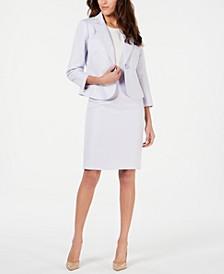 One-Button Peak Collar Skirt Suit