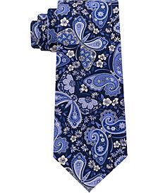 Tommy Hilfiger Men's Butterfly Paisley Print Silk Tie