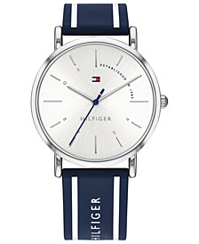 Women's Navy Silicone Strap Watch 35mm Created for Macy's