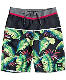 "Quiksilver Big Boys Palm Tree Graphic 18"" Swim Trunks"