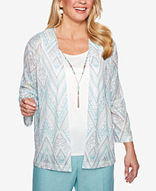 Alfred Dunner Versailles Layered Look Necklace Top