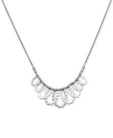 """Lucky Brand Silver-Tone Scallop Collar Necklace, 18"""" + 2"""" extender"""