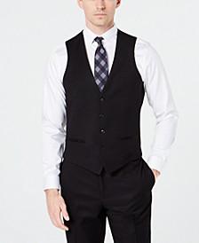 Men's Slim-Fit Stretch Black Tuxedo Suit Vest, Created for Macy's