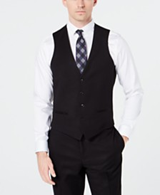 Ryan Seacrest Distinction™ Men's Slim-Fit Stretch Black Tuxedo Suit Vest, Created for Macy's