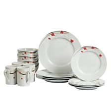 Tabletops Unlimited Kara 16-Pc. Dinnerware Set, Service for 4