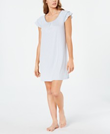 Charter Club Flutter Sleeve Knit Nightgown, Created for Macy's