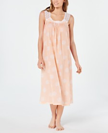 Charter Club Lace Straps Woven Cotton Nightgown, Created for Macy's