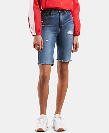 Levi's® Mile High Denim Biker Shorts