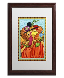 "Jennifer Nilsson Patchwork Turkey Matted Framed Art - 16"" x 20"" x 0.5"""