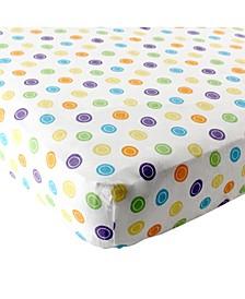 Fitted Pack and Play Sheet, Yellow Geometric, One Size