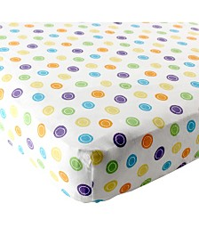 Luvable Friends Fitted Pack and Play Sheet, Yellow Geometric, One Size