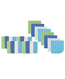 Luvable Friends Washcloths, 24-Pack, Blue, One Size