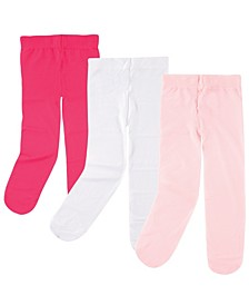 Nylon Tights, 3-Pack,0 Months-4T