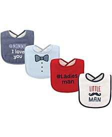 Drooler Bibs, 4-Pack, One Size