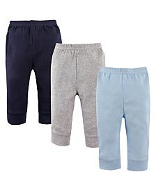 Luvable Friends Toddler Tapered Ankle Pants, 3-Pack, 2T-5T