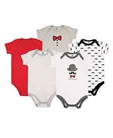 Baby Girl Cotton Bodysuit, 5-Pack