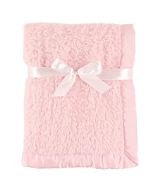 Sherpa Blanket with Satin Binding, One Size