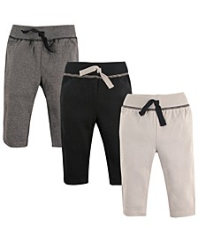 Track Pants, 3-Pack, 0-24 Months