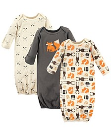 Sleep Gowns, 3-Pack, 0-6 Months