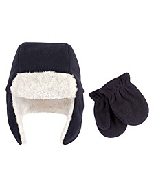 Boys and Girls Fleece Trapper Hat and Mitten Set, Pack of 2